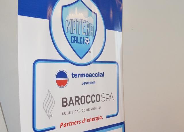 La partnership fra il Matera Calcio e la Termoacciai, foto: Federico Longo