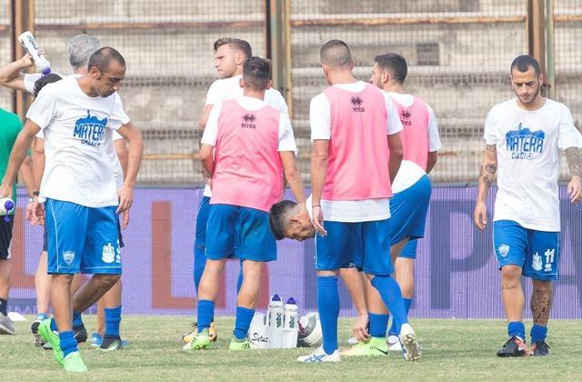 I biancoazzurri a Lentini, foto: Cristian Costantino - MateraCalcioStory.it