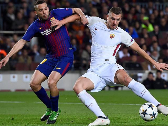 Una fase di Barcellona-Roma, foto: Uefa.com