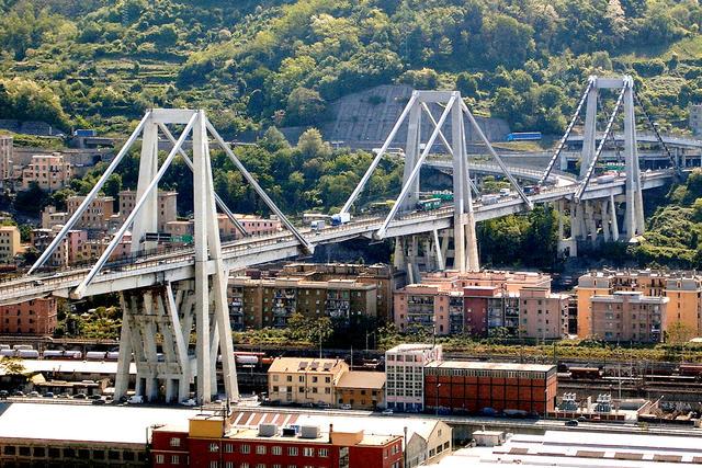 Il ponte Morandi caduto nella giornata di ieri, foto: Fonte Web
