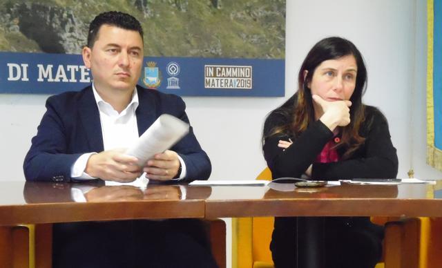 Una fase della conferenza stampa al Comune, foto: TuttoMatera.com