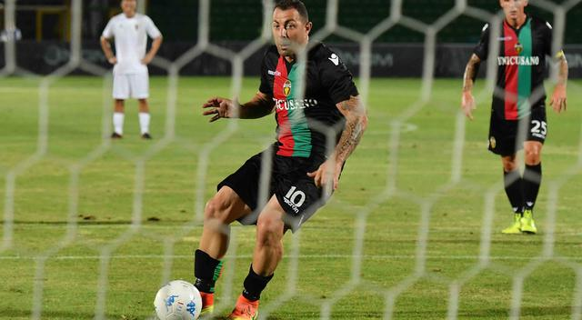 L'attaccante Daniele Vantaggiato, foto: Stefano Principi