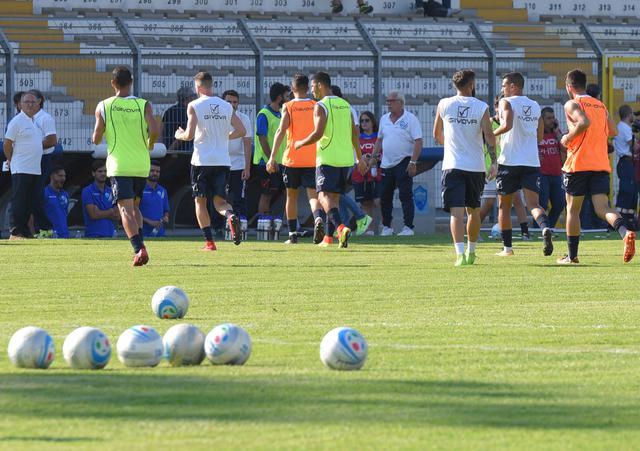 Una fase del'allenamento dei biancoazzurri, foto: Emanuele Taccardi