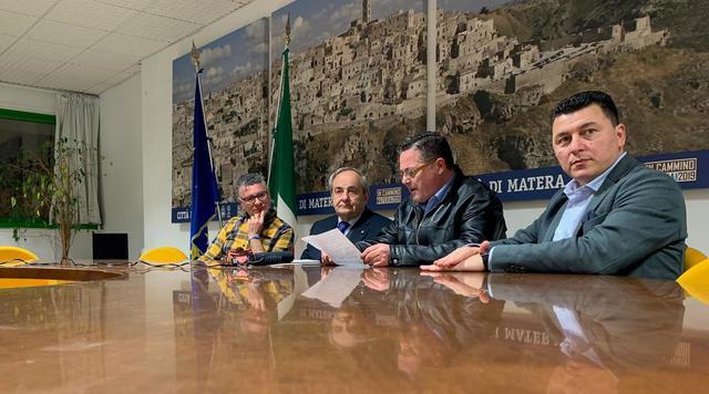 Una fase dell'incontro in Comune, foto: TuttoMatera.com
