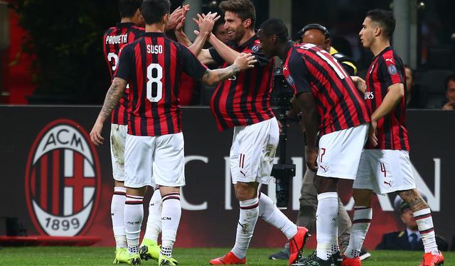 L'esultanza del Milan, foto: Fonte Web