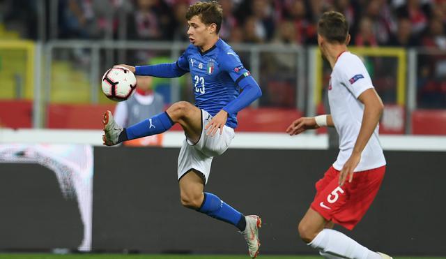 Il centrocampista Nicolò Barella in azione, foto: Fonte Web