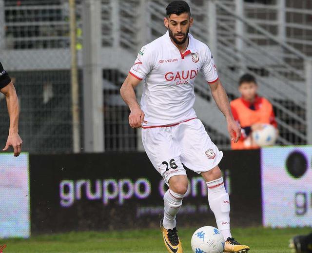 Il terzino Luca Calapai in azione, foto: Fonte Web