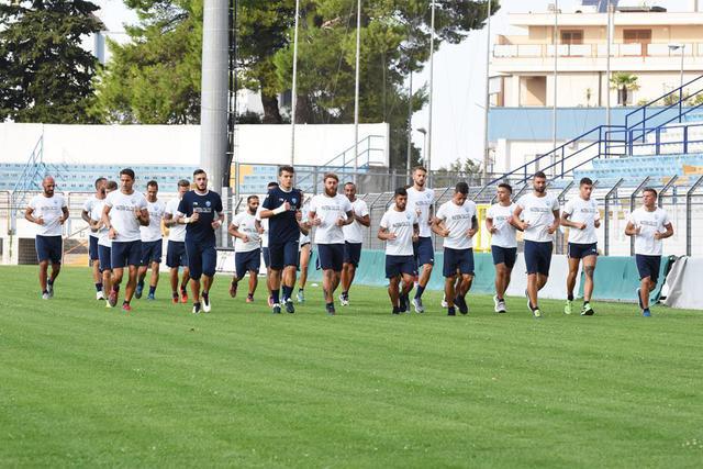 L'allenamento dei biancoazzurri, foto: Sandro Veglia