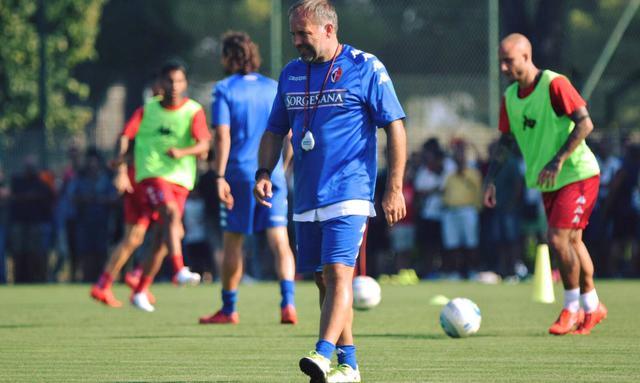 Il tecnico Giovanni Cornacchini, FOTO: SSC BARI FACEBOOK