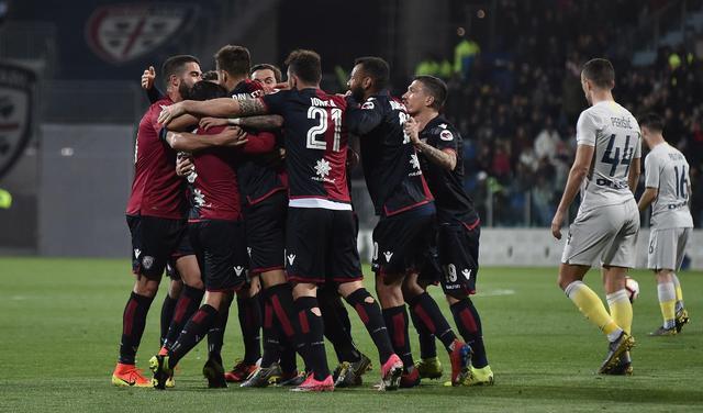 L'esultanza del Cagliari, foto: Fonte Web