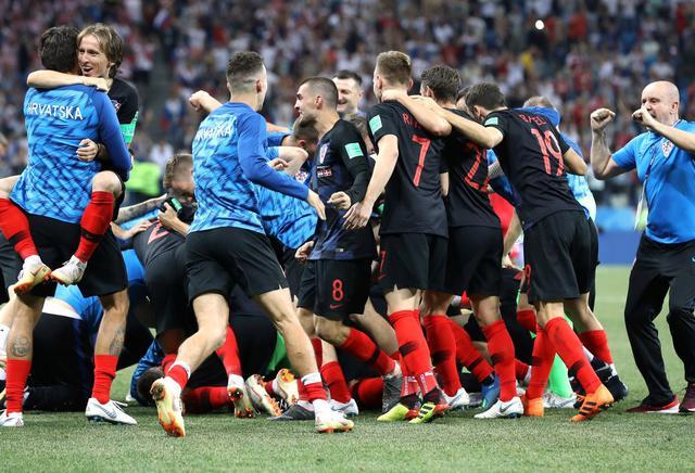 L'esultanza della Croazia dopo la vittoria ai rigori, foto: Fifa.com