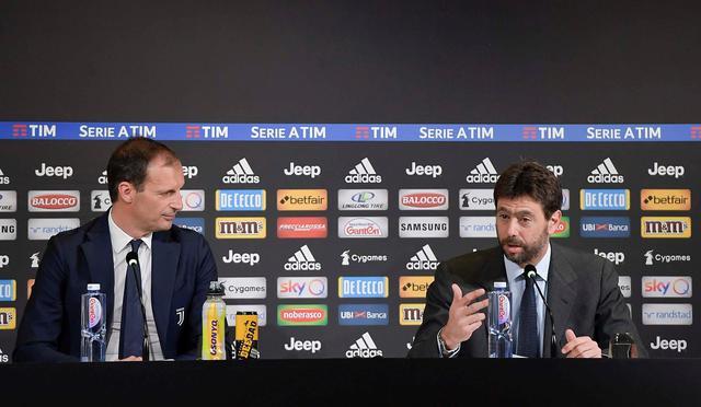 Una fase della conferenza stampa di quest'oggi, foto: Juventus.com