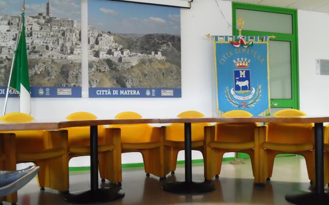 La sala stampa del Comune di Matera, FOTO: TUTTOMATERA.COM