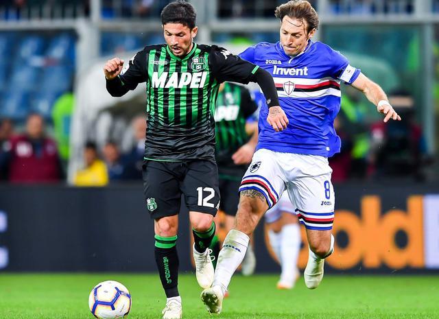 Una fase di Sampdoria-Sassuolo, foto: Fonte Web