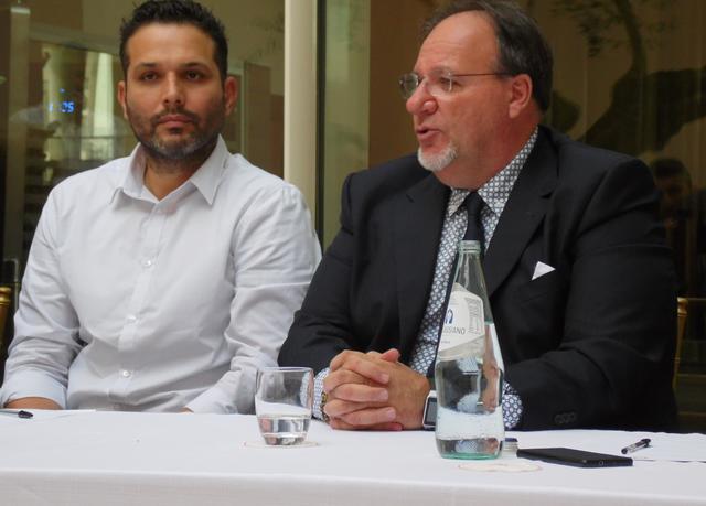 Alberani e Lamberti durante la presentazione, foto: TuttoMatera.com