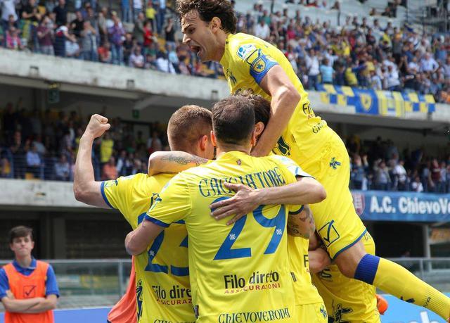 L'esultanza del Chievo, foto: Fonte Web