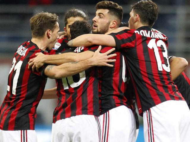L'esultanza dei rossoneri, foto: AcMilan.com