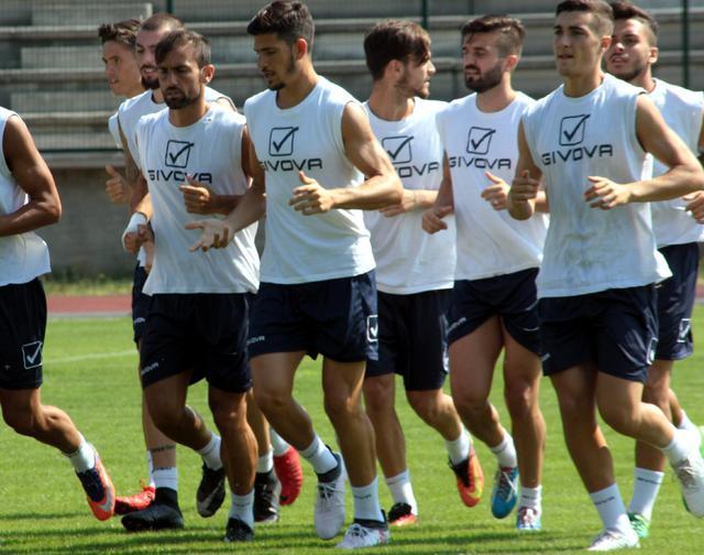 I biancoazzurri in allenamento, foto: Giorgia Cannella