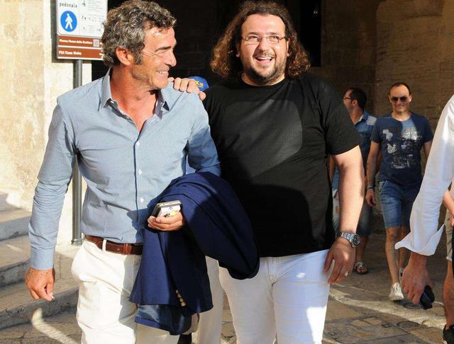 Il tecnico Gaetano Auteri e il patron Saverio Columella, foto: Sandro Veglia