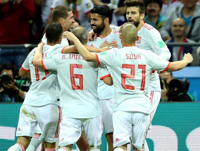 L'esultanza della Spagna, foto: Fifa.com