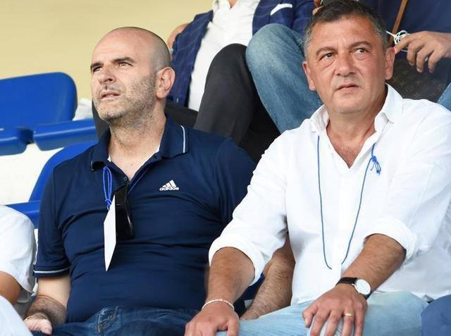 Nicola Andrisani e Vitantonio Ripoli in tribuna, foto: Sandro Veglia