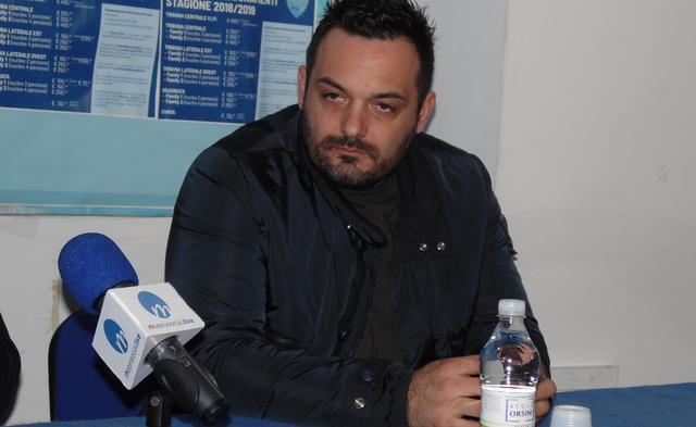 Il ds Damiano Genovese alla presentazione, foto: TuttoMatera.com