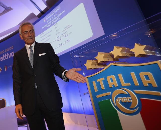 Il neo presidente Gabriele Gravina, foto: Figc.it