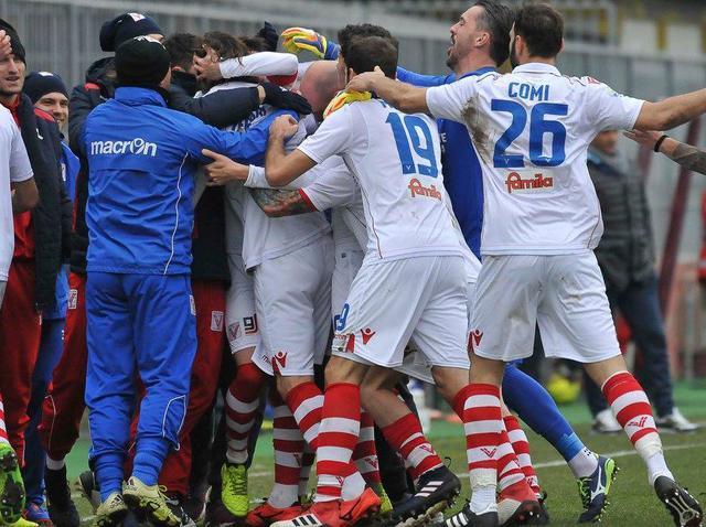 L'esultanza del Vicenza, foto: Fonte Web