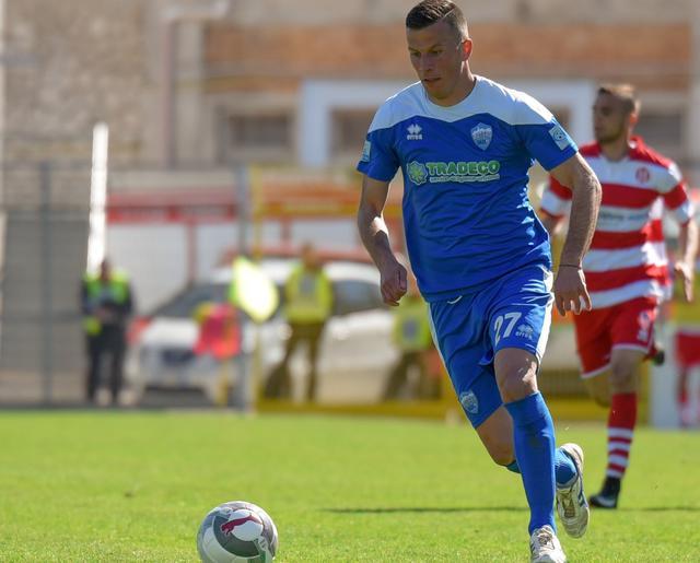 Il centrocampista Giacomo Casoli in azione, foto: Emanuele Taccardi
