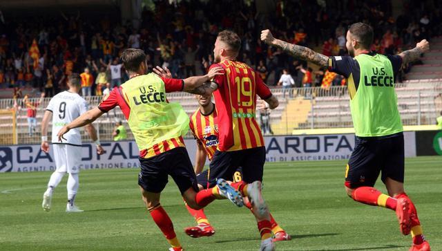 L'esultanza del Lecce, foto: Fonte Web