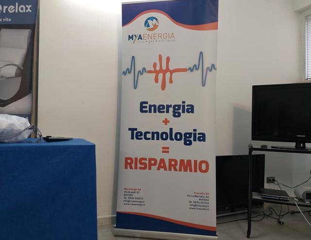 La locandina della Mya Energia, foto: TuttoMatera.com