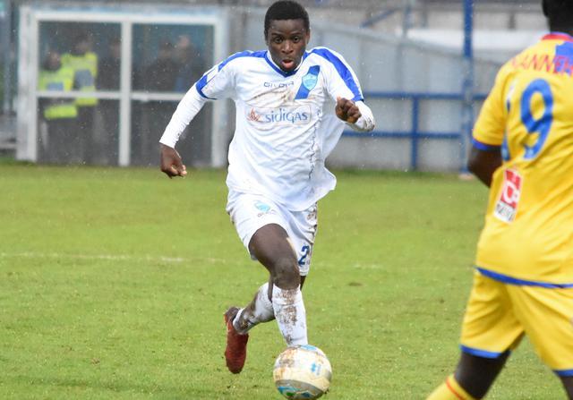 Il centrocampista Andt Bangu, foto: Sandro Veglia