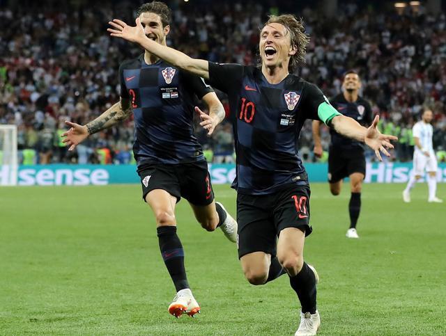 L'esultanza di Modric dopo la rete, foto: Fifa.com