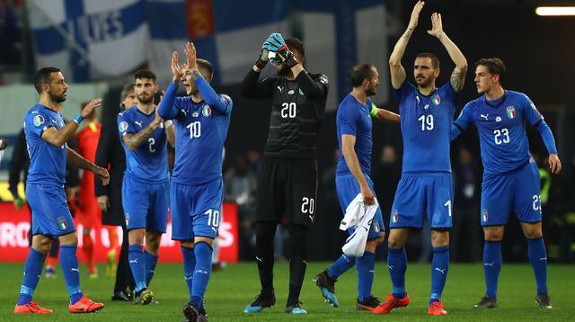 Gli azzurri dopo il match, foto: Figc.it
