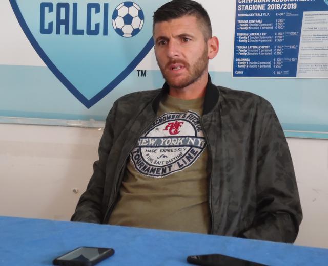 Il difensore Mariano Stendardo in conferenza stampa, foto: TuttoMatera.com