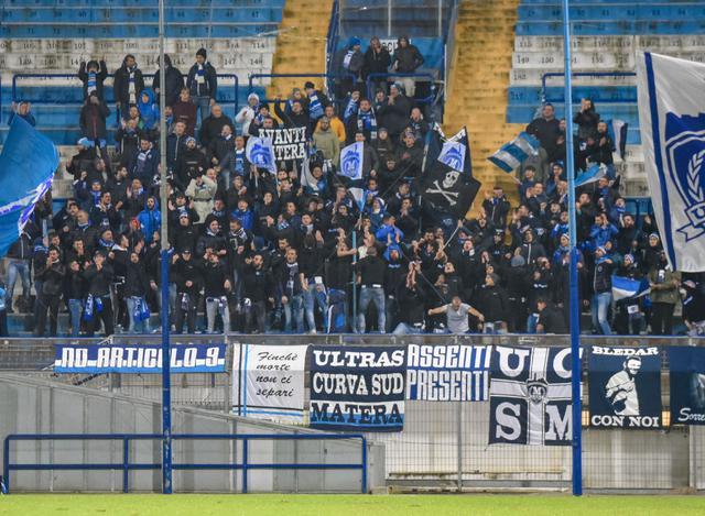 Gli Ultras Curva Sud Matera, foto: Emanuele Taccardi