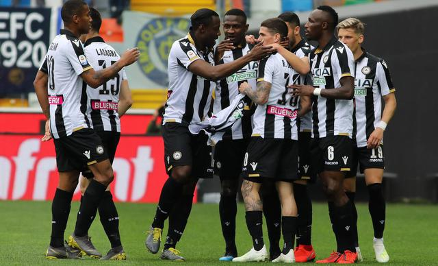L'esultanza dell'Udinese, foto: SportMediaset.it