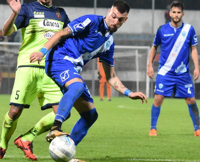 L'attaccante Gaetano Dammacco in azione, foto: Sandro Veglia