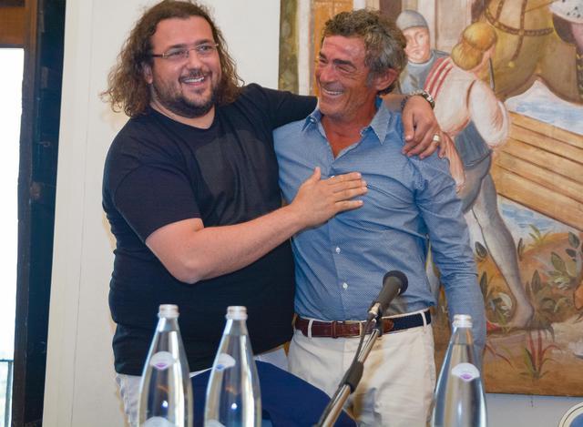 Il patron Saverio Columella e il tecnico Gaetano Auteri, foto: Emanuele Taccardi