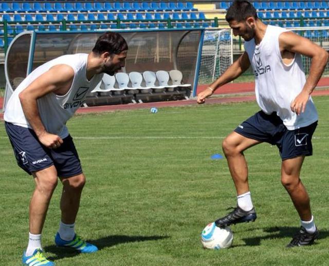 L'attaccante Gianvito Plasmati in allenamento, foto: Giorgia Cannella-MateraCalcio.it