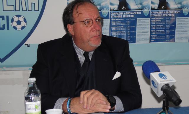 Il presidente Rosario Lamberti dei biancoazzurri, foto: TuttoMatera.com