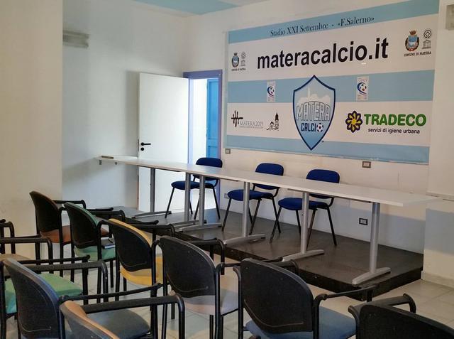 La sala stampa dello stadio XXI Settembre-Franco Salerno, foto: TuttoMatera.com