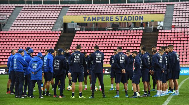 La rifinitura degli azzurri, FOTO: FIGC.IT