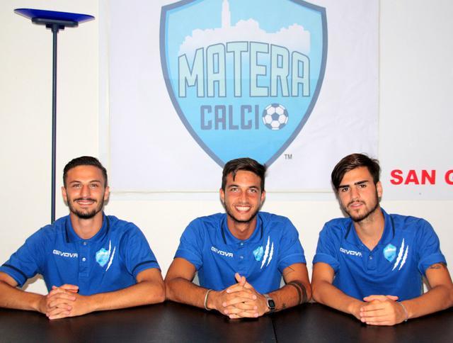 I tre nuovi arrivati, foto: MateraCalcio.it