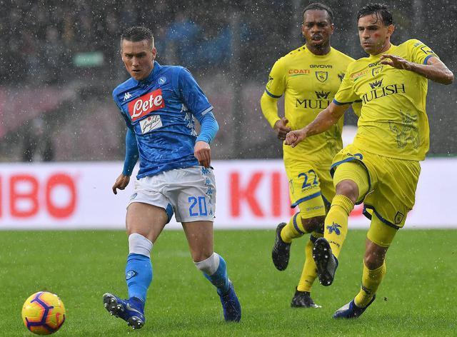 Una fase di Napoli-Chievo, foto: SportMediaset.it