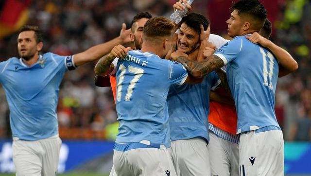 L'esultanza della Lazio, FOTO: UEFA.COM