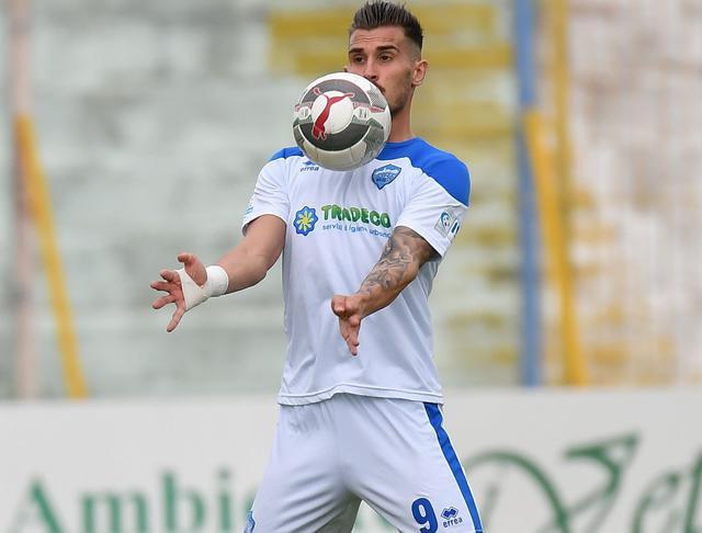 L'attaccante Marko Dugandzic, foto: Giuseppe Scialla