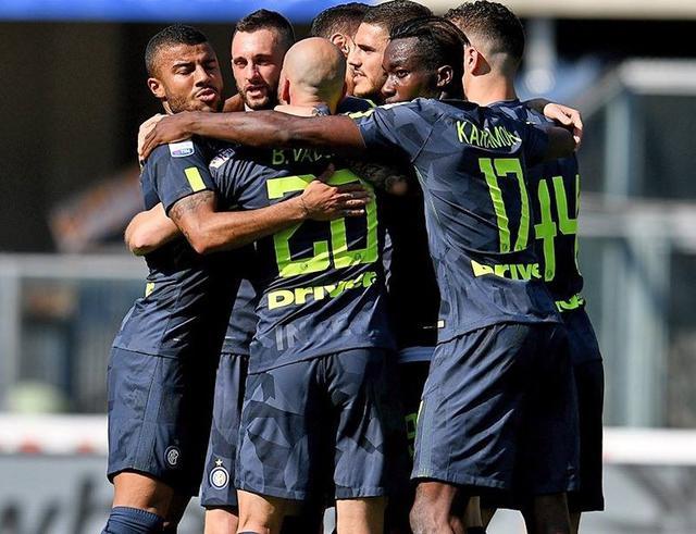 L'esultanza dei neroazzurri a Verona, foto: Inter.it