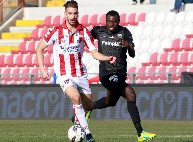 L'attaccante Iacopo Cernigoi in attacco, foto: Fonte Web