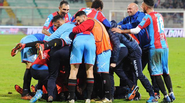 L'esultanza del Catania, FOTO: FONTE WEB